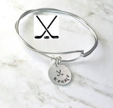 Hockey Bracelet, Ice Hockey Jewelry, Hockey Coach Gift, Sport Jewelry, H... - $8.25