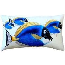 Pillow Decor - Blue Surgeonfish Fish Pillow 12x20 (PD2-0012-01-92) - $578,91 MXN