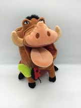 "Disney Store Lion King Pumba Pumbaa Warthog w/ Grub Bugs Large 14"" Plush... - $25.24"