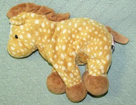 "Ty Pluffies LASSO Horse 9"" Plush Toy Stuffed Animal Soft BABY Cuddly Tan... - $12.19"