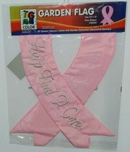 Two Group Flags Co 65045 Pink Ribbon Indoor Outdoor Decorative Banner image 1