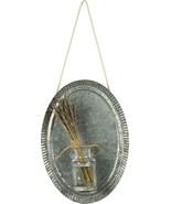 Farmhouse tin Wall Plaque with Glass Vase - $28.00