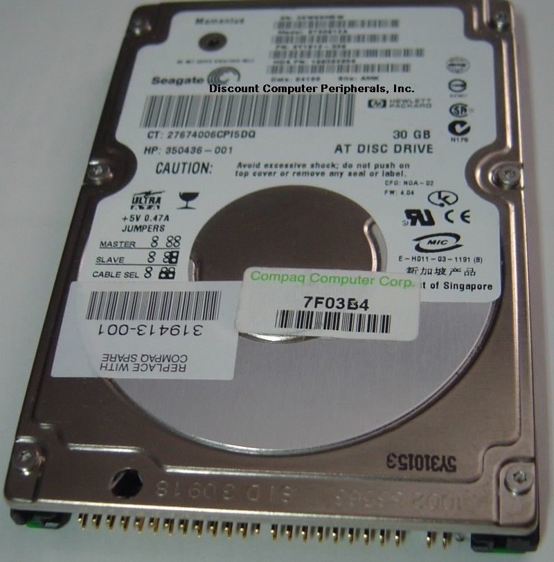ST93012A Seagate 30GB IDE 2.5 inch Hard Drive Tested Good Free USA Shipping