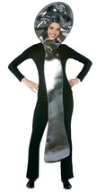 Spoon Costume Adult Giant Silver Tunic Utensil Halloween Party Unique GC... - $42.99
