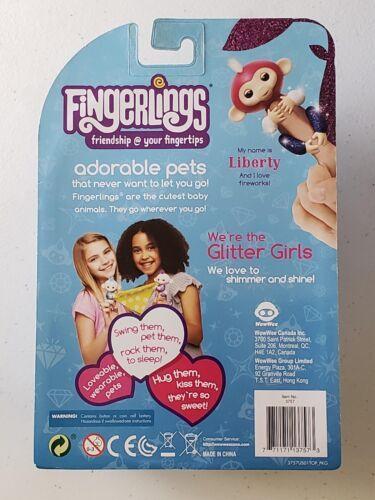 Fingerlings Glitter Monkey - Liberty Patriotic Rare - Finger Figurine