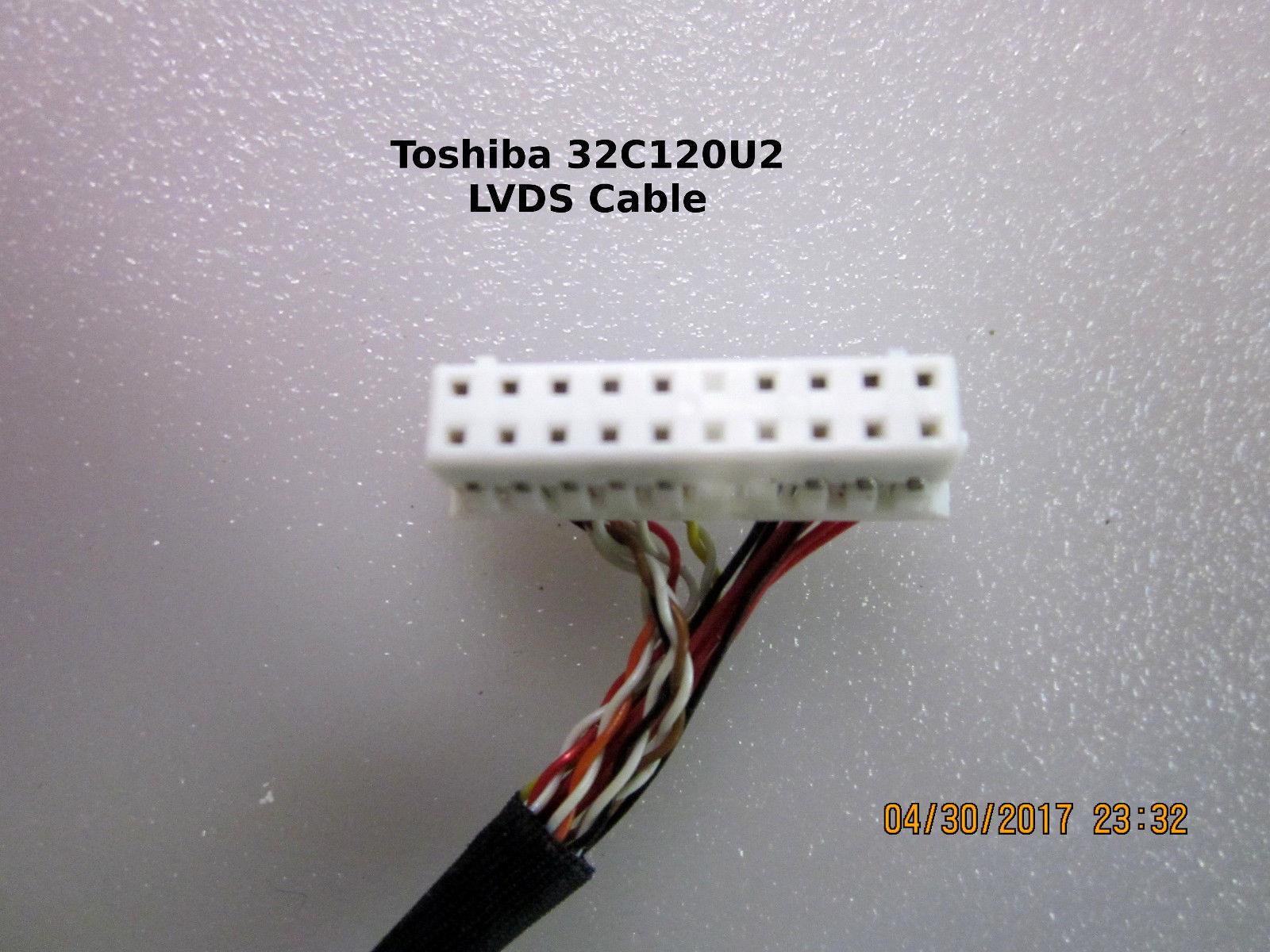 Toshiba 32C120U2 32C110U 32DT2U LCD LVDS Cable 75023524  [See List]