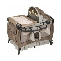 Playard Portable Baby Crib Bassinet Canopy Toy Bar Playpen Changing Tabl... - $177.34