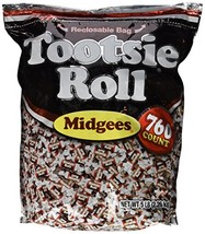 Tootsie Roll Midgees Candy 5 Pound Value Bag 760 Pieces - $19.55