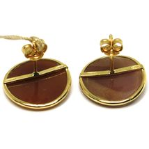 YELLOW GOLD EARRINGS 18K 750, CAMEO CAMEO SHELL, PAIR ELVES, ELF image 3