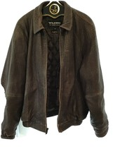 Vintage Mens Wilson Leather Jacket With Zip Out Liner , Brown Size XL - $32.67