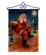 Down The Chimney Burlap - Impressions Decorative Metal Wall Hanger Garde... - $33.97