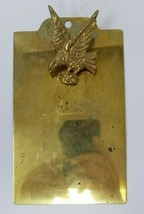 Vintage Brass Mini Clipboard with Eagle - £23.78 GBP