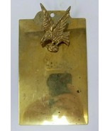 Vintage Brass Mini Clipboard with Eagle - $29.69