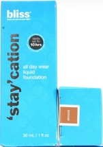 2 Bliss 1 Oz 'Stay' Cation Up To 10 Hr All Day Liquid Foundation In Almond - $21.99