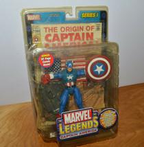 "MARVEL LEGENDS CAPTAIN AMERICA Action Figure MISP 2002 Toybiz 6"" Comics - $23.89"