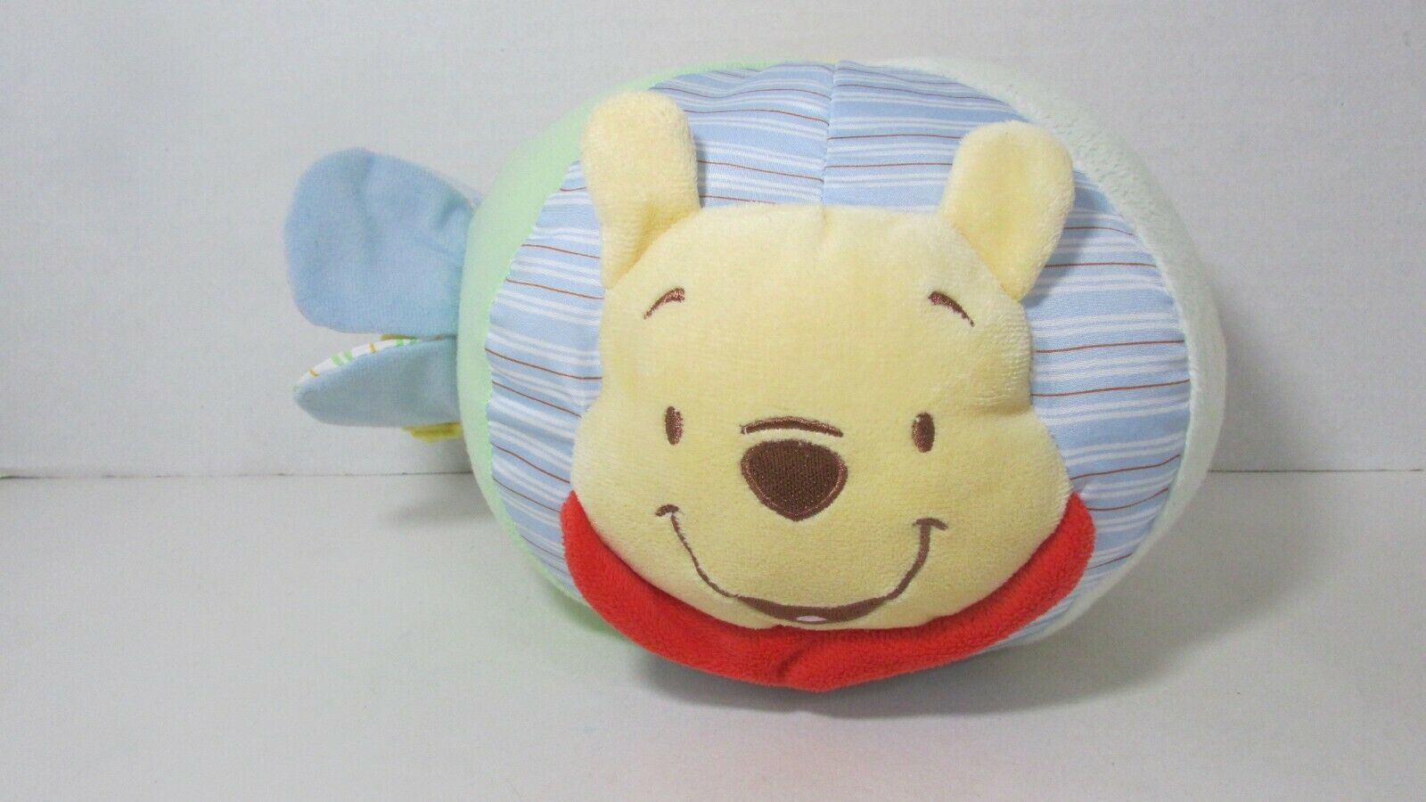 Primary image for Disney Winnie the Pooh plush chime rattle soft activity ball baby toy squeaks