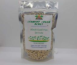 Black Eyed Pea Sprouting Seed, Organic, Non GMO - 13oz - Country Creek Brand - B - $12.49