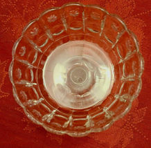 Vintage Standing Candy Dish Compote Open Stemmed Starburst Pattern image 3