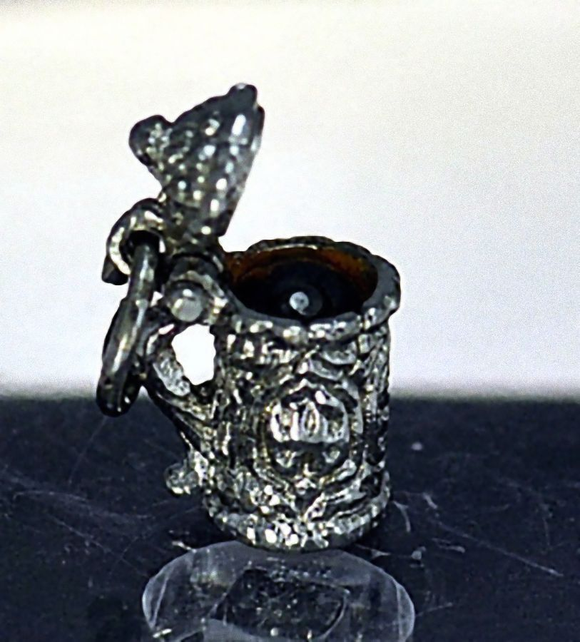 NICE OPEN Cookie Jar Canister Charm Sterling Silver jewelry