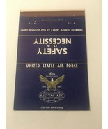 Vintage Matchbook Cover Matchcover US Air Force 16th Anniversary - $5.70