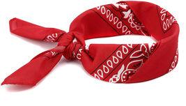 NEW MEN'S PREMIUM 12 PACK COTTON PAISLEY HEAD WRAP SCARF WRISTBAND BANDANA RED image 3