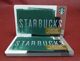 Lot of 7 Starbucks 2016 Green Background Series 6131 Gift Cards New with... - $28.60