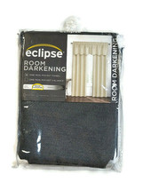 "Eclipse Canova Rod Pocket Room Darkening Curtain Panel 42"" x 63"" Charcoa... - $17.81"