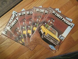 10 Chevrolet Pickups 1981 Chevy Truck Car original Dealer car Sales Broc... - $26.99
