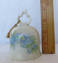 Porcelain Ceramic Bell White with Floral Design - $30.00