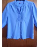 Vintage Laura Scott Large Petite Blue Blouse 3/4 Sleeves - $10.00