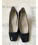 "Ellen Tracy ET-Erin Black Square Toe Patent Leather 3.25"" Heel Pump 9M New - $37.07"