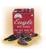 Eagle Heel Plates 8 Pair of Size Large Metal Heel Plates & Nails for Sho... - $15.00