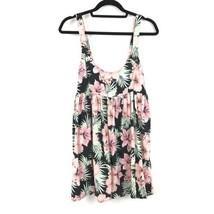 ASOS Womens Size 4 Mini Dress Tropical Floral Palm Print Pink Green Blac... - $32.19 CAD