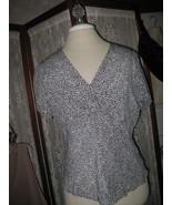 Womens L ALLISON TAYLOR Twist front Leopard Print Silk Blouse Top - $14.89