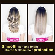 SWAN STAR Professional Infrared Steam Hair Straightener, Flat Iron Hair Straight image 5