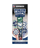 Dallas Cowboys Poker Chips 100pc Casino Style Tray 11.5G Chips New - $19.79