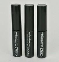 Clinique High Impact Mascara 01 Black .14oz Travel Lot of 3 Volumizing Tubes! - $9.04