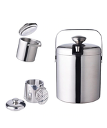 1.3L Ice Bucket Wine Coolers Stainless Steel Double Wall Champagne Bucket - $35.00