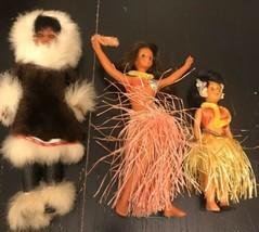 3-Vintage Mix Dolls Hawaiian/ Alaskan - $14.03