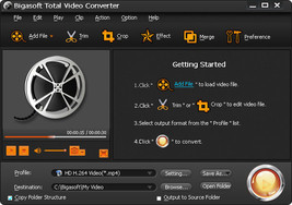 Bigasoft Total Video Converter Software-Video Downloader-Editing-Various... - $23.33