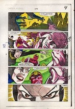 1984 Captain America 295 page 4 Marvel color guide art: Baron Zemo/Mother Night - $99.50