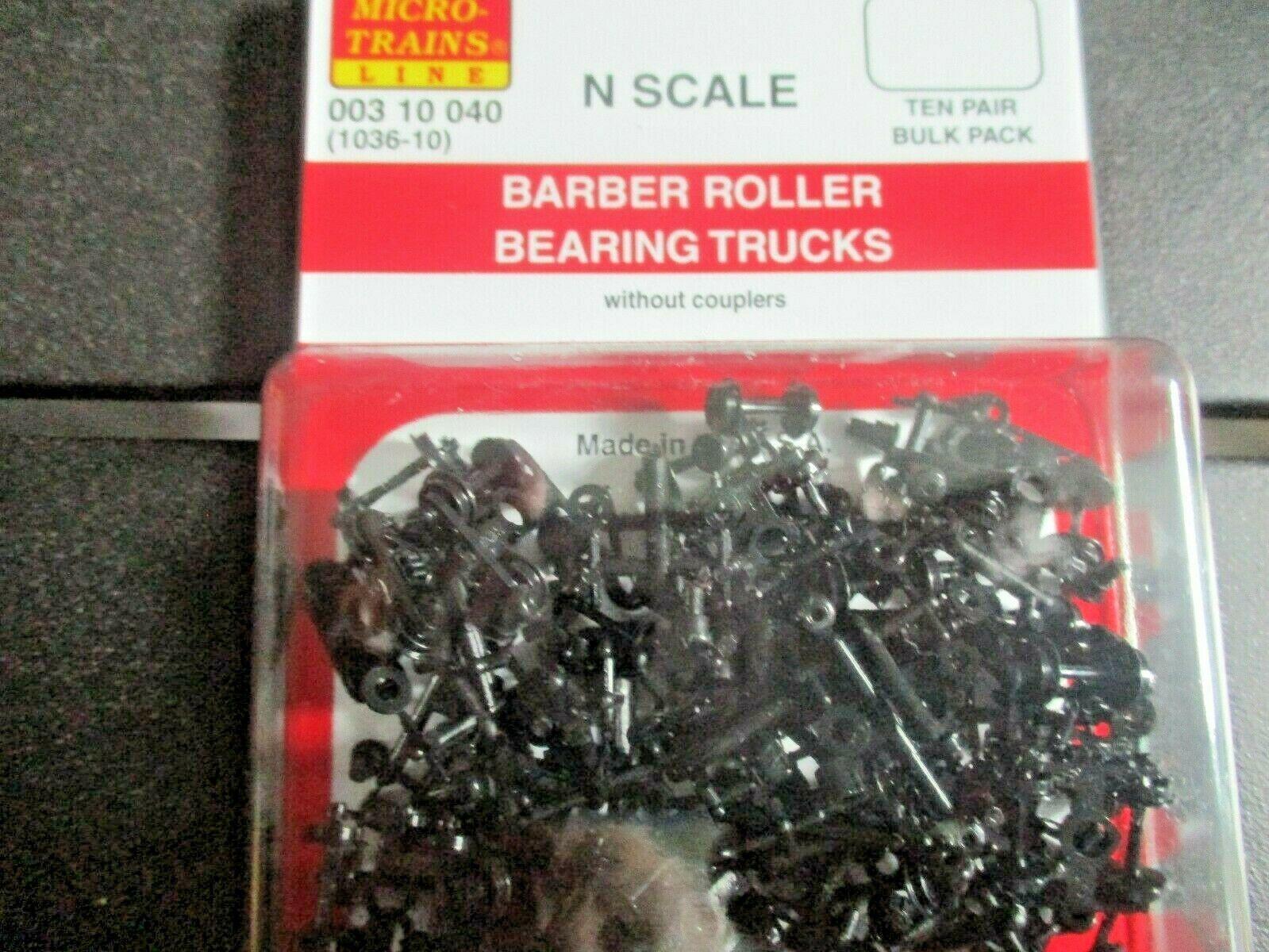 Micro-Trains Stock # 00310040 (1036-10) Barber Roller Bearing Trucks w/o Coupler