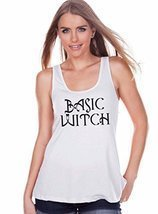 7 ate 9 Apparel Womens Basic Witch Halloween Tank Top Medium White - €15,21 EUR