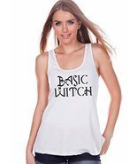 7 ate 9 Apparel Womens Basic Witch Halloween Tank Top Medium White - ₨1,205.78 INR