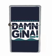 Damn Gina Rs1 Flip Top Oil Lighter Wind Resistant With Case - $12.82
