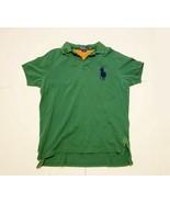 Polo Ralph Lauren Men's Large Custom Fit Big Pony Green Polo Shirt Navy - $19.79