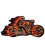 GHOST RIDER FLAMING FIRE MOTORCYCLE  DELUXE EMBROIDERED PATCH - $4.88