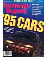 ORIGINAL Vintage 1995 Consumer Reports Magazine Cars Issue - $14.84