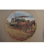 WATER WAGON collector plate EMMETT KAYE Farming the Heartland STEAM ENGI... - $14.99