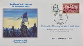 9/24/1990 Philatelic History Civil War Sheridan's Cavalry Destroys Shena... - $10.99